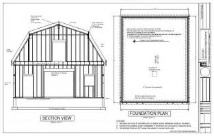 Gambrel Barn House Plans G440 28 X 36 X 10 Gambrel Barn Workshop Plans Blueprint