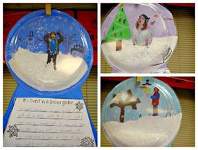 Snow Globe Craft For Kids - january 2013 sunny days in second grade
