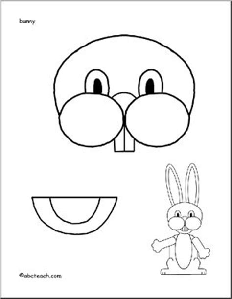 easter bunny paper bag puppet template easter bunny paper bag puppet could use just for the