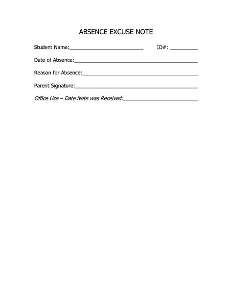 school absence note template free best photos of doctors excuse for school doctors excuse