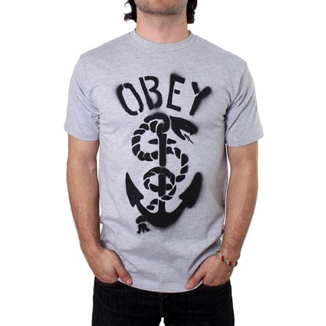 T Shirt Anchor Fighters obey clothing serpent anchor t shirt evo