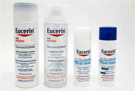 products on new eucerin skin care line