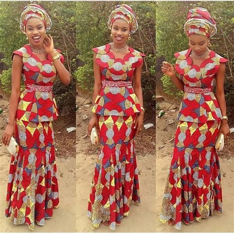 latest nigeria ankara style blouse and skirt ankara skirt and blouse style for wedding naija ng