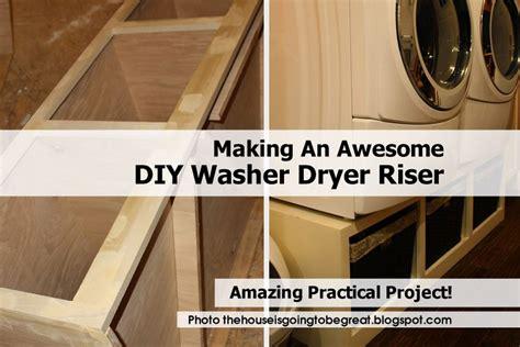 making  awesome diy washer dryer riser