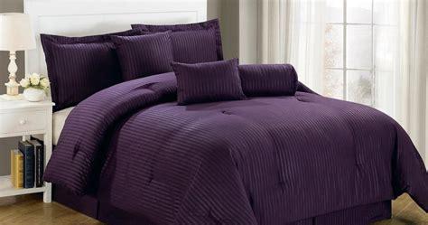 deep dark purple comforters bedding sets