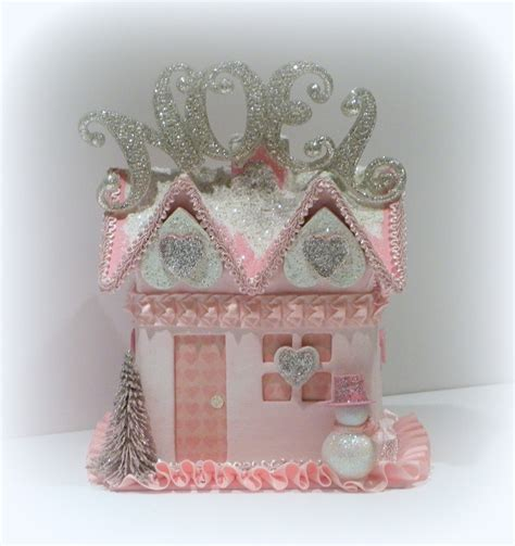 shabby chic christmas christmas decoration pink gift box