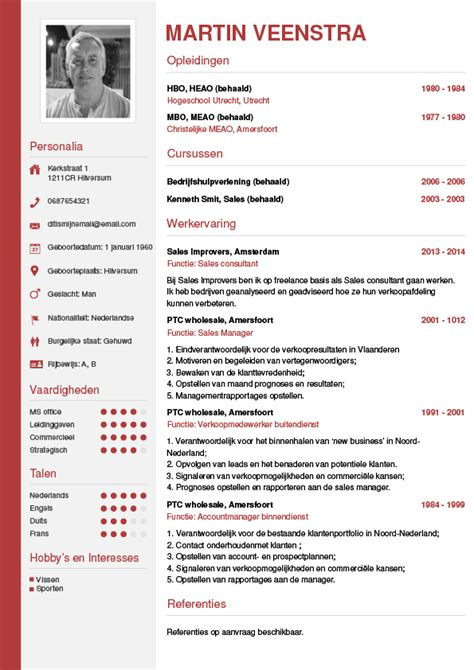 Cv Template Nederlands Cv Maken In 3 Stappen Je Curriculum Vitae Downloaden Cv Wizard
