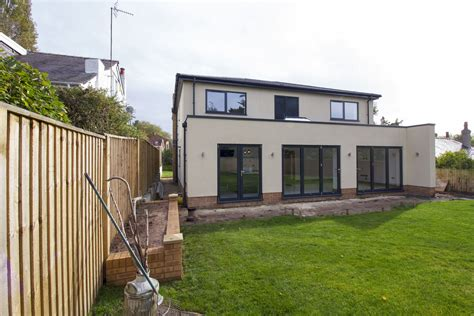 Living Room And Kitchen Open Floor Plan new build aluminium case study heswall wirral