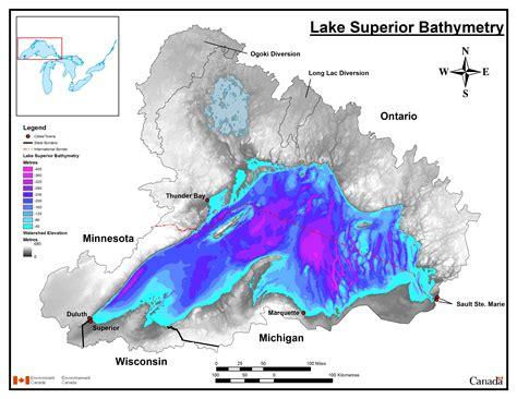 lake superior map bathymetry maps for lake michigan images