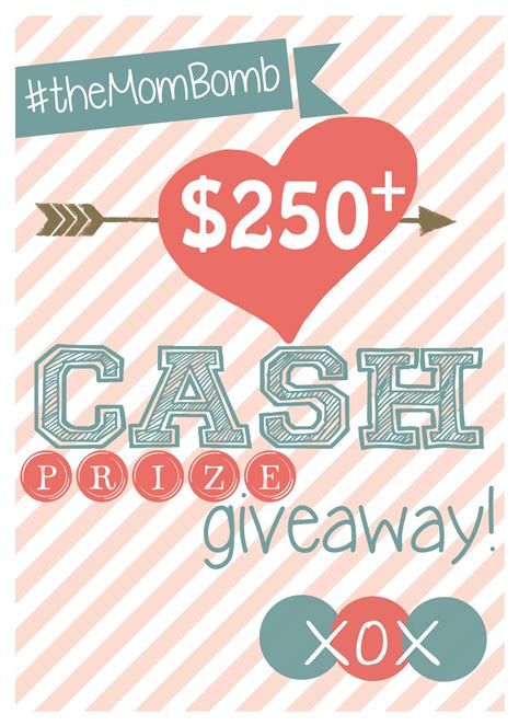 Cash Giveaway Today - the mom bomb 250 cash giveaway love and laundry