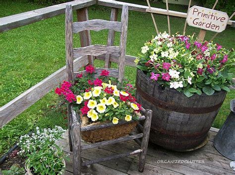 outdoor planter ideas organized clutter chair planter ideas