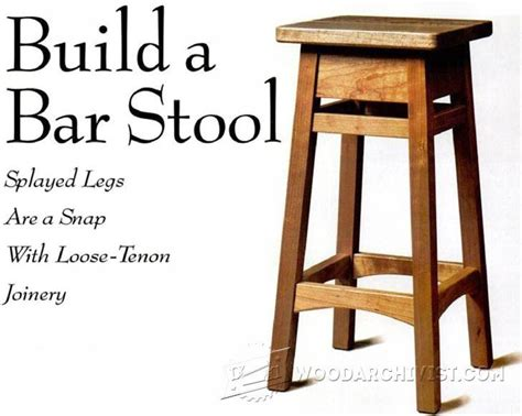 diy bar stool plans diy bar stool furniture plans and projects