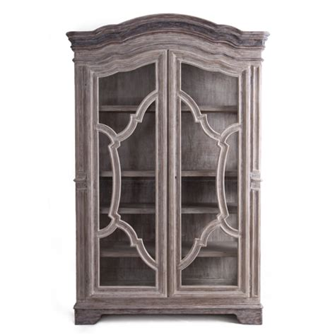 Glass Armoire by Mosaic Glass Front Armoire Provence Chic