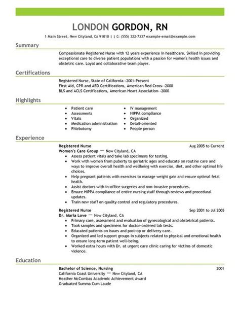 How To Do A Nursing Resume by Registered Resume Sle Recipe Registered