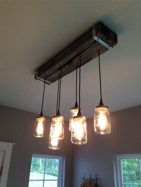 Reclaimed Wood Light Fixture by Jar And Reclaimed Wood Light Fixture Creations