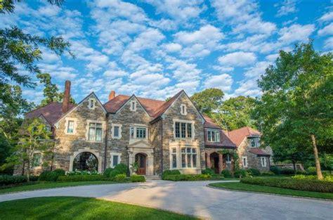 Foyer Built Ins Woodland Hills Manor A 12 9 Million Tudor Stone Mansion