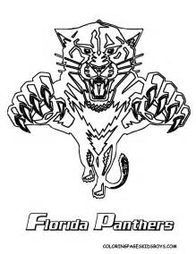 panthers color panthers logo coloring pages