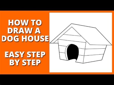 how to draw a dog house how to draw a dog house youtube