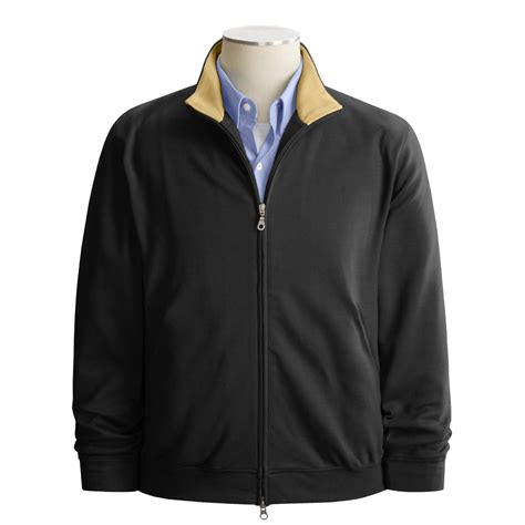 Jaket Ziper Grown barber pima cotton zip jacket for 1519m save 58