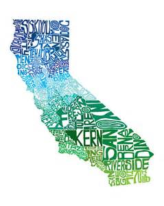 california typography map california cool typography map print customizable by capow