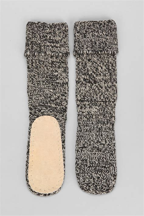 slippers outfitters lyst outfitters mukluk slipper sock in black for