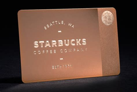 Starbucks 5 Gift Card Offer - news starbucks offers metal gift card for the starbucks fan that has everything