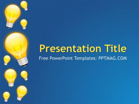 Light Bulb Powerpoint Template by Free Light Bulbs Powerpoint Template Pptmag