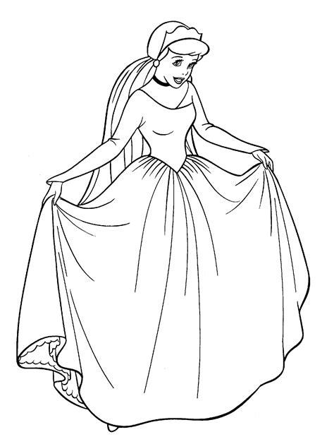 Cindrela Hitam princesse disney coloriage cendrillon 224 imprimer et colorier