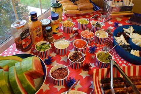 burger bar topping ideas hot dog bar toppings freedom fireworks fun pinterest