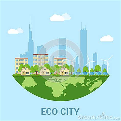eco city stock vector image 60372823