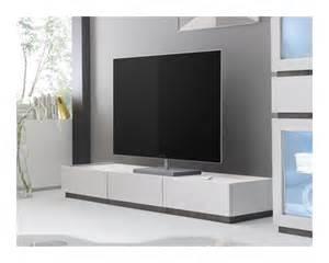 meuble tv design laqu 233 233 l 233 gant et pratique en blanc mat