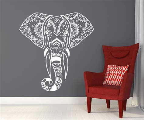 decals wall stickers mandala elephant wall decals hippie decal vinyl