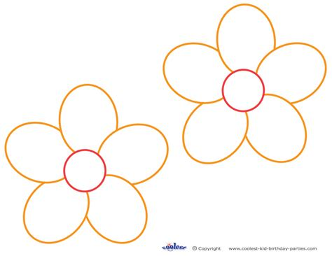 printable flower template flower templates printable cliparts co