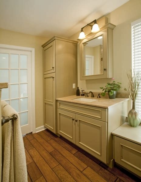Master Bathroom Linen Cabinets A Linen Cabinet Maximizes Storage Within The Master Bath