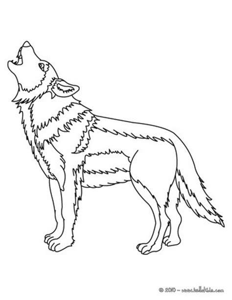 howling wolf coloring pages hellokids com