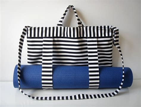 pattern for yoga mat tote yoga mat tote bag black white stripes with straps handmade