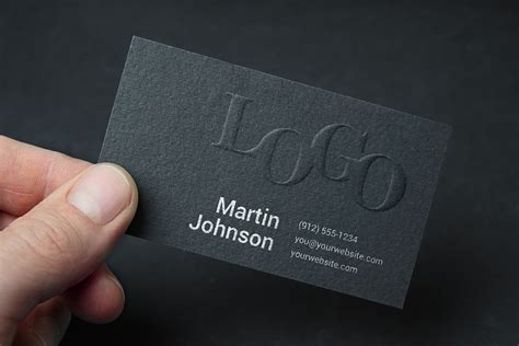 Embossed Business Card Design
