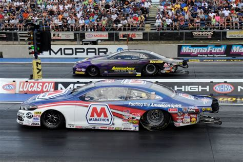 pro stock dodge dart allen johnson drives his dodge dart to victory at