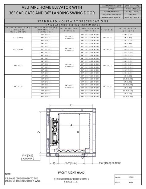 Small Home Elevator Size Elevator Door Dimensions And Dimensions Table To Images