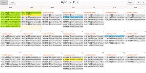 Social Media Calendar Social Media Calendar 2017 Agorapulse Media