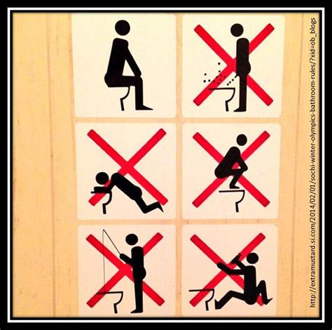 sochi bathroom sign countdown to sochi the good the bad and the downright