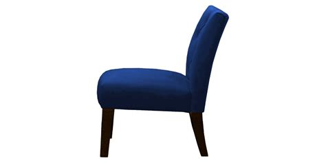 navy blue slipper chair navy blue slipper chair with tufted back and legs