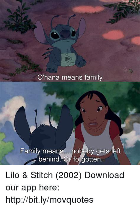 Lilo And Stitch Meme - 25 best memes about ohana means family ohana means