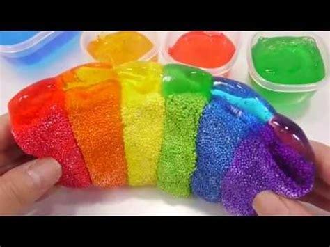 tutorial slime foam diy how to make color foam rainbow slime toys youtube