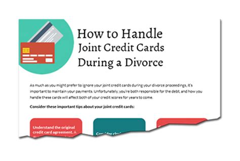Divorce And Credit by How To Handle Joint Credit Cards During A Divorce