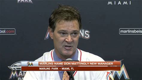 Don Mattingly Press Conference by Miami Marlins Don Mattingly Press Conference