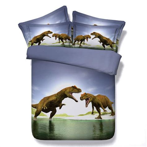dinosaur bedding queen 3d dinosaur bedding sets queen size quilt duvet cover