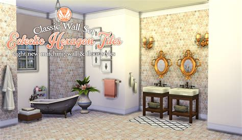the sims 4 flooring set my sims 4 classic wall set eclectic hexagon tile