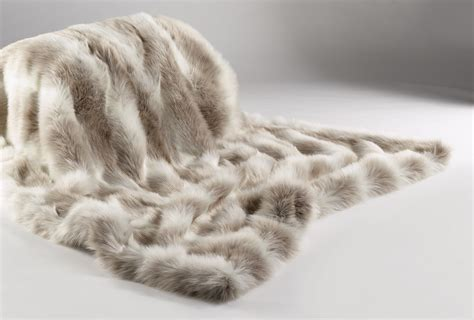 faux fur couch reindeer grey white and beige faux fur throw to use on