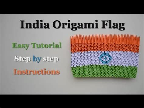 How To Make Paper Flags - 3d origami paper flag india diy crafts tutorials